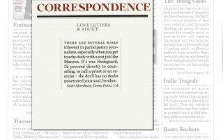 Rolling Stone Magazine Correspondence Love Letters & Advice by Scott Marshutz
