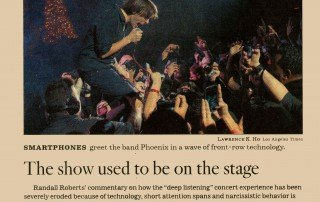 The show used to be on the stage