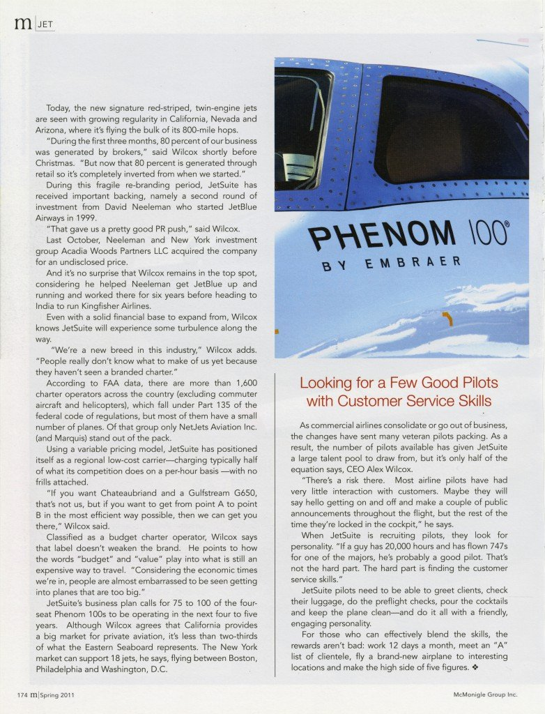 JetSuite is gaining altitude article by Scott Marshutz page 2