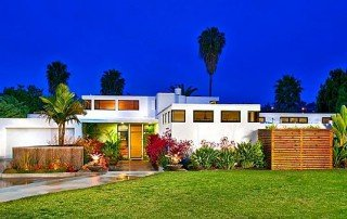 Overlooking La Costa North Course 1970s international style home